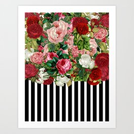 Censored Flowers Art Print