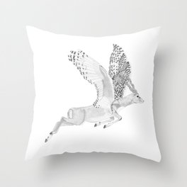 Combinations #7 - Antelope / Owl (FINAL) Throw Pillow