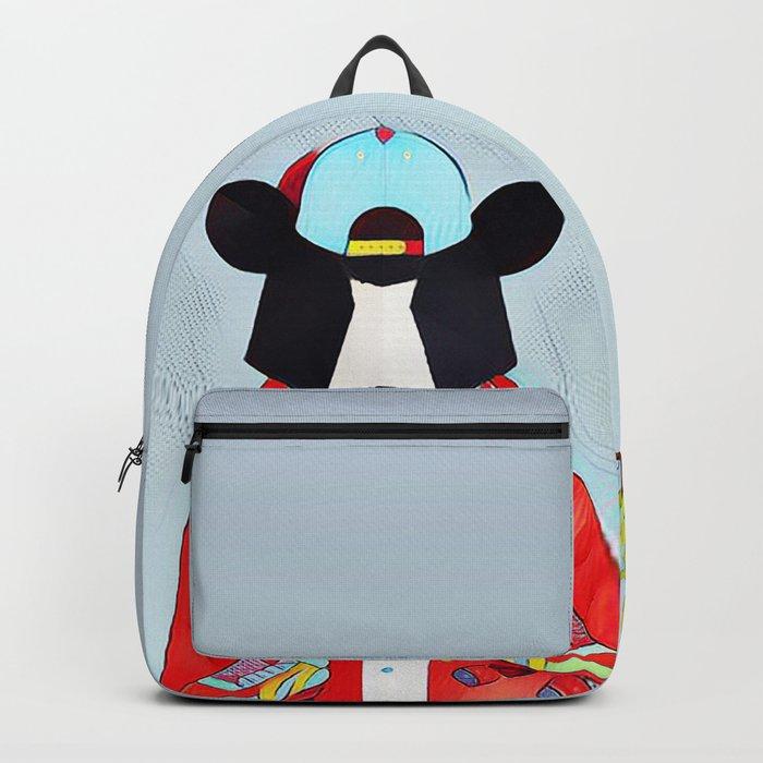 Bear in the skatepark Backpack