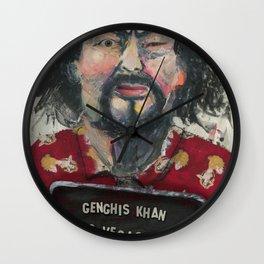 Genghis Khan's Vegas Arrest Wall Clock