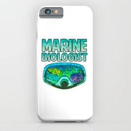 Awesome Marine Biologist Underwater Biology iPhone Case