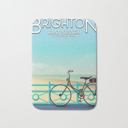Brighton, East Sussex vintage travel poster. Bath Mat