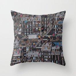 Parisian Neighbourhood Throw Pillow