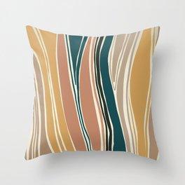 Tulip - Abstract Art Print Throw Pillow