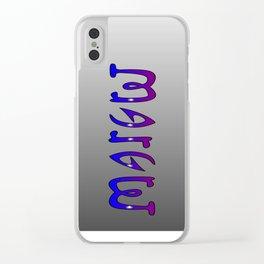 Margret (Ambigram) Namendreher Clear iPhone Case