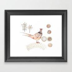 Decorative pheasant Framed Art Print