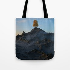 The Tree on the Mountain Tote Bag