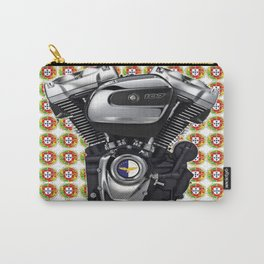 Portuguese Biker collage in white Carry-All Pouch