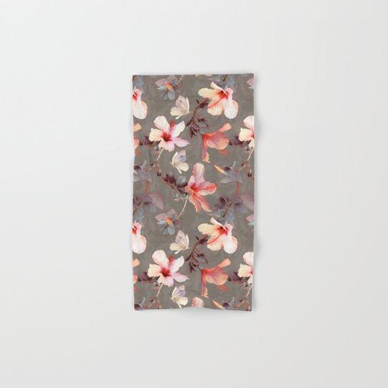 Coral Hibiscus Hand & Bath Towel