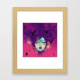 Black Rain Framed Art Print