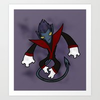 nightcrawler Art Prints featuring Nightcrawler by Twisted Dredz
