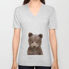Baby Bear Cub Portrait Unisex V-Neck