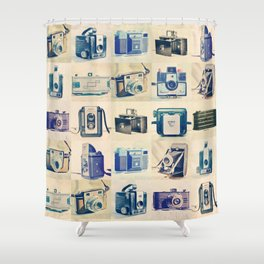 Vintage Camera Collection Shower Curtain