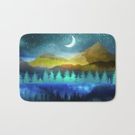Silent Forest Night Bath Mat