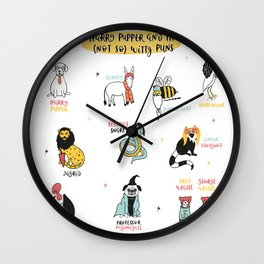 Harry Pupper and the (not so) Witty Puns Wall Clock
