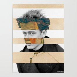 Egon Schiele's Self Portrait in a Striped Shirt & James D. Poster