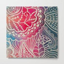 Filigree Rainbow Metal Print