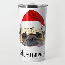 Bah Humpug Santa Dog Travel Mug