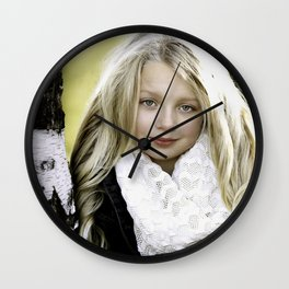 Beautiful Girl Wall Clock