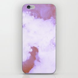 DREAMY PINK AND WHITE RAINBOW CLOUDS iPhone Skin