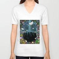 velvet underground V-neck T-shirts featuring Underground by Danse de Lune