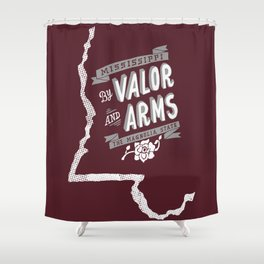 Mississippi Motto (Maroon) Shower Curtain