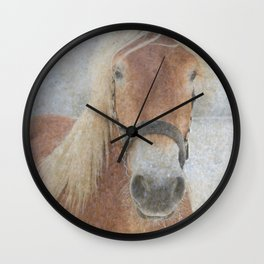 Winter Horse - JUSTART (c) Wall Clock