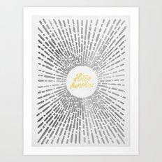 Hello Sunshine Silver Art Print