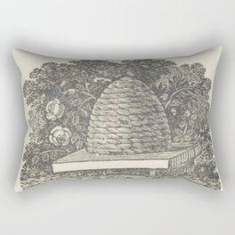 Beehive Woodcut Rectangular Pillow