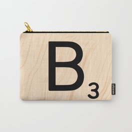Scrabble Letter B - Large Scrabble Tiles Carry-All Pouch