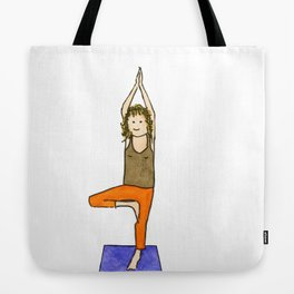 Yoga Folks - Tree Position  Tote Bag