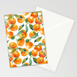 Mandarins With Leaves Stationery Cards