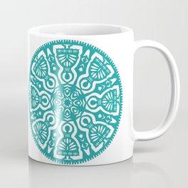Polish Papercut Dancers Teal Coffee Mug