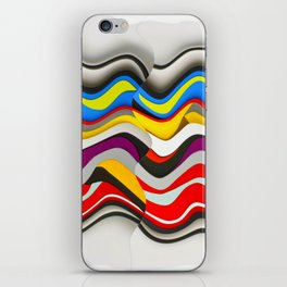 Colored Waves iPhone Skin