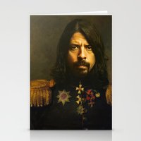 sofa Stationery Cards featuring Dave Grohl - replaceface by replaceface
