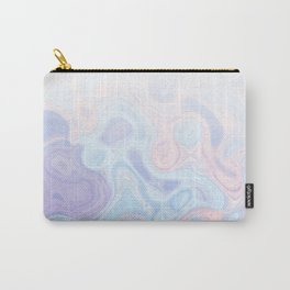 Liquid Pastel Marble Ombre 1. lilac, nude and aqua #pastelvibes #homedecor #buyart Carry-All Pouch