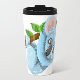 Blue Koala Cartoon Travel Mug