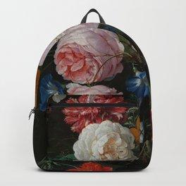 "Jan Davidsz. de Heem ""Still Life with Flowers in a Glass Vase"" Backpack"