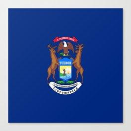flag michigan,america,usa,great lakes,detroit,Michigander,yooper,Lansing,winter wonderland,Wolverine Canvas Print