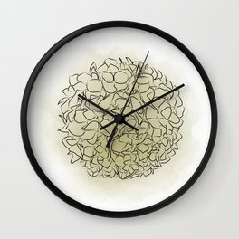Delicate flowers green, Paradise flowers, wallpaper, Home Decor, Graphicdesign Wall Clock