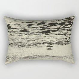 Curlew Wader Bird Rocky Seashore Rectangular Pillow
