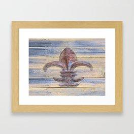 Fluer De Lis Beach Lake House Coastal Art A194 Framed Art Print