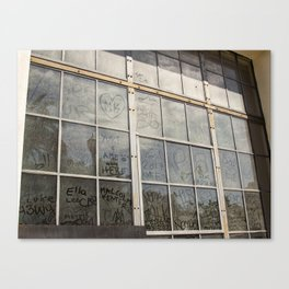 Window Art Work Canvas Print