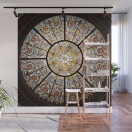 Stained glass window glass ceiling Wall Mural