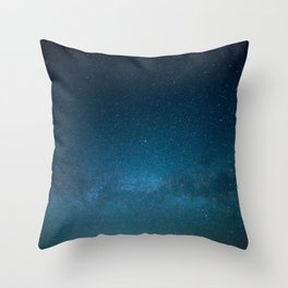 Navy Blue Star Galaxy Throw Pillow