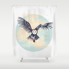 Hemlock Owl Shower Curtain