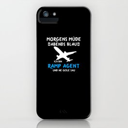 Ramp Agent aircraft handler gift funny iPhone Case