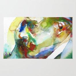 FRIEDRICH NIETZSCHE - watercolor portrait.3 Rug