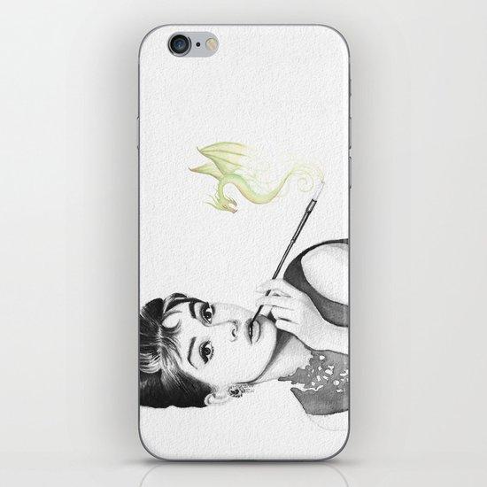 Audrey Hepburn and Her Dragon iPhone & iPod Skin