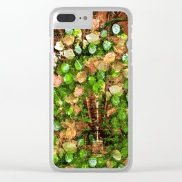 Old World Vintage Roses Bountiful Clear iPhone Case